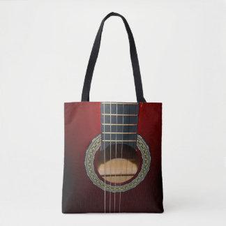 Brown Classic Guitar, Full Print Shopping Bag