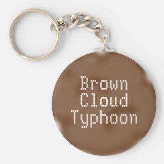 Brown Cloud Typhoon Basic Round Button Key Ring