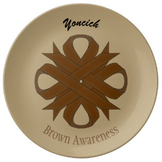 Brown Clover Ribbon by Kenneth Yoncich Plate