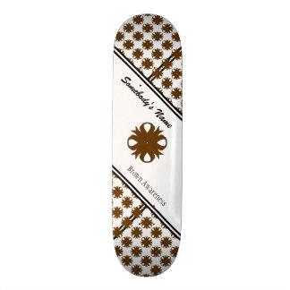 Brown Clover Ribbon Custom Skateboard