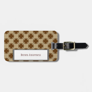 Brown Clover Ribbon Template Luggage Tag