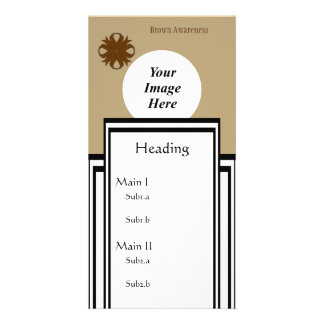 Brown Clover Ribbon Template Photo Card