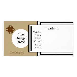 Brown Clover Ribbon Template Custom Photo Card
