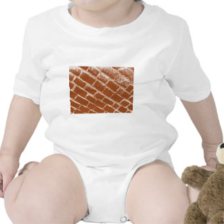 brown cobbles reversed baby bodysuits