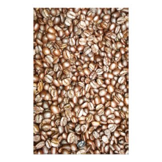 Brown coffee beans design stationery