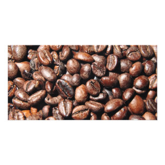 BROWN COFFEE BEANS PHOTOGRAPHY BACKGROUNDS FOODS PHOTO GREETING CARD