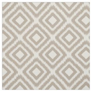 Brown color modern Ikat diamond pattern Fabric