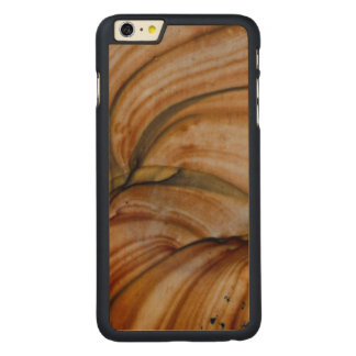 Brown colored Deschutes Jasper Carved Maple iPhone 6 Plus Case
