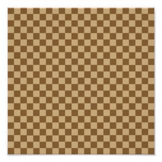 Brown Combination Classic Checkerboard Photo Print
