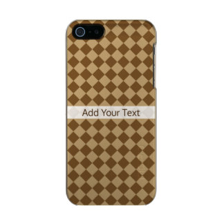 Brown Combination Diamond Pattern by STaylor Incipio Feather® Shine iPhone 5 Case