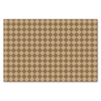 Brown Combination Diamond Pattern Tissue Paper