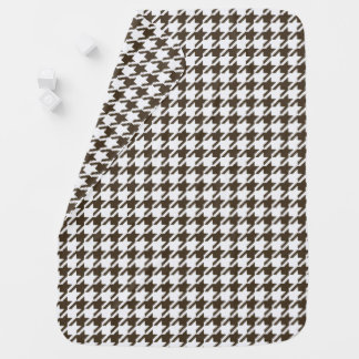 Brown Combination Houndstooth by Shirley Taylor Baby Blanket