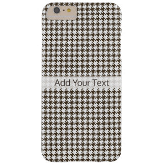 Brown Combination Houndstooth by Shirley Taylor Barely There iPhone 6 Plus Case
