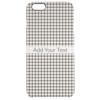 Brown Combination Houndstooth by Shirley Taylor Clear iPhone 6 Plus Case
