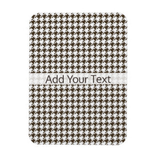 Brown Combination Houndstooth by Shirley Taylor Magnet