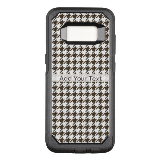 Brown Combination Houndstooth by Shirley Taylor OtterBox Commuter Samsung Galaxy S8 Case