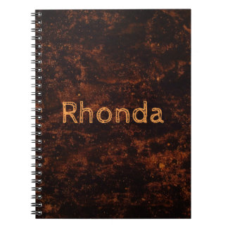Brown Concrete Fire Spiral Notebook