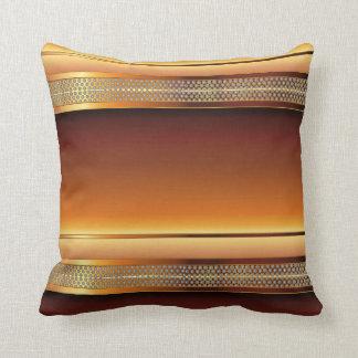 Brown Copper Metal Mesh Design Throw Pillow