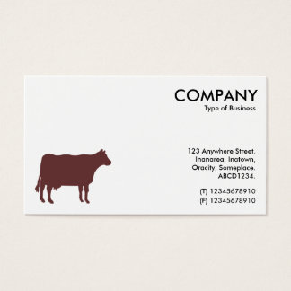 Brown Cow Symbol - White