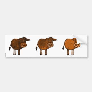 brown cow trio scrapbook sticker