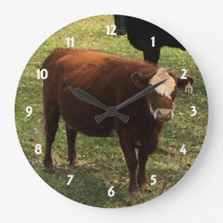 Brown Cow Wall Clock
