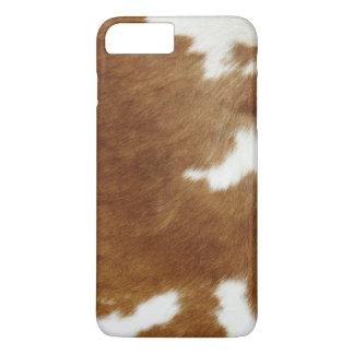 Brown Cowhide Print iPhone 7 Plus Case