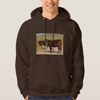 Brown Cows in Chrome Men's Sweatshirt