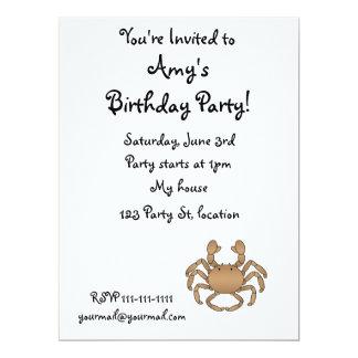Brown crab 17 cm x 22 cm invitation card