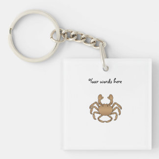 Brown crab key ring