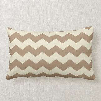 Brown & Cream Chevron Pattern Pillow