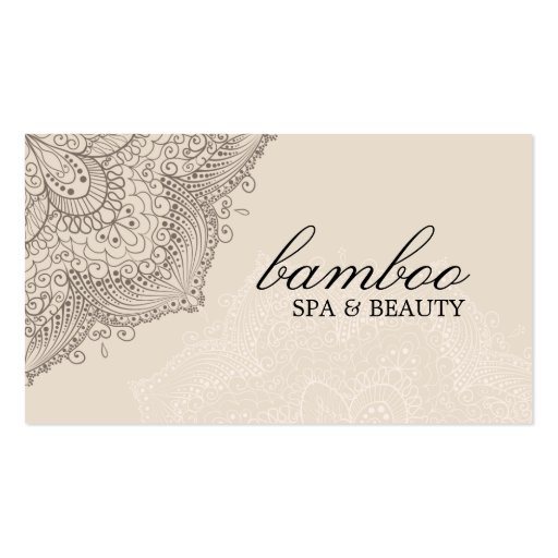 Brown & Cream Exotic Spa Business Card