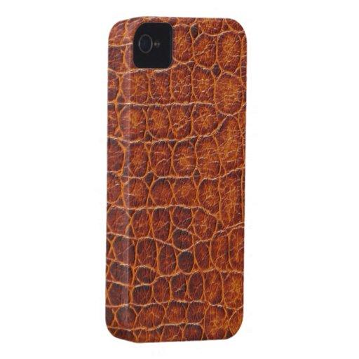 Brown Crocodile Skin iPhone 4 4s Custom Case ID Case-Mate iPhone 4 Case