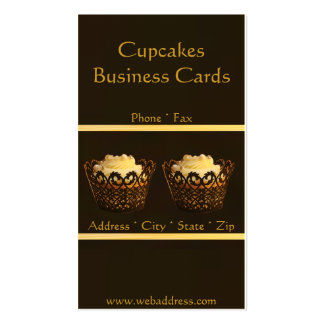 Brown Cupcake Bakery Business Cards