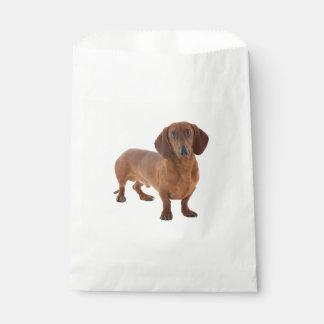 Brown Dachshund Puppy Dog Favour Bag
