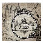 Brown Damask Unconditional Love Wedding Invite 13 Cm X 13 Cm Square Invitation Card