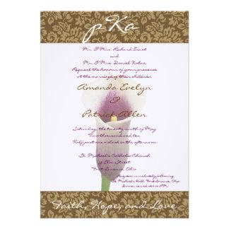 Brown Damask Wedding Inv Custom Invites