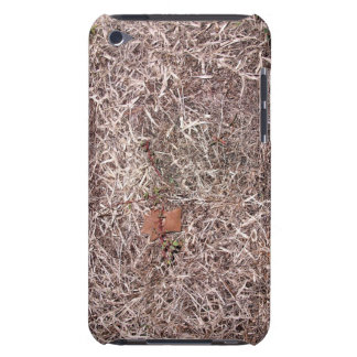 Brown dead grass, weeds, and leaves barely there iPod cases