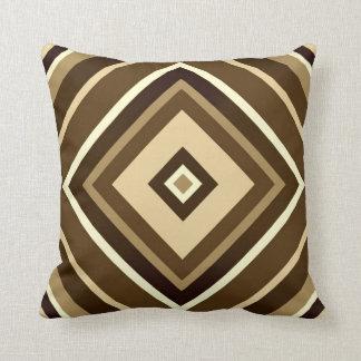 """Brown Diamond Throw Pillow 16"""" x 16"""" Throw Cushion"""