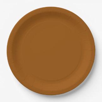 Brown Dinner Paper Plate