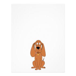 Brown Dog. Hound Cartoon with Collar. 21.5 Cm X 28 Cm Flyer