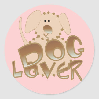 Brown Dog Lover Tshirts and Gifts Round Sticker