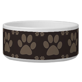 Brown Dog Paws Dog Food Bowls