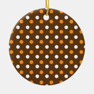 brown dotted colorful backgrounds ceramic ornament
