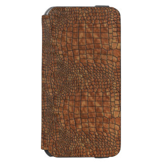Brown Dragon Skin Design Incipio Watson™ iPhone 6 Wallet Case