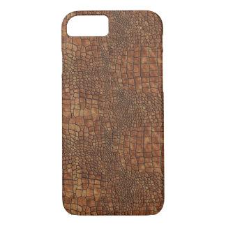Brown Dragon Skin Design iPhone 7 Case