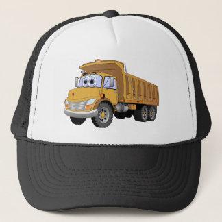 Brown Dump Truck Cartoon Trucker Hat