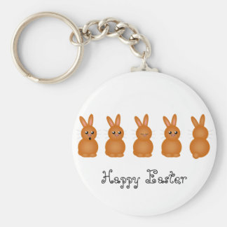 Brown Easter Bunnies Key Chains