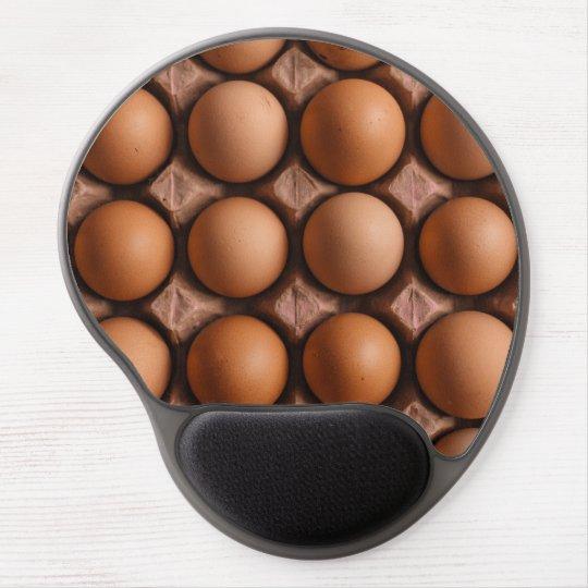 Brown eggs pattern gel mouse pad