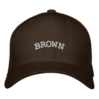 BROWN EMBROIDERED HATS