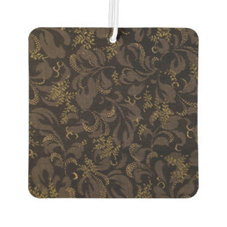 Brown Embroidery Look Car Air Freshener